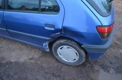 Schaden an einem Fahrzeug in Deutschland