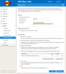 Fritz!Box-Benutzer für VPN-Verbindungen anlegen