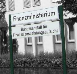 Schild: Bundesanstalt für Finanzdienstleistungsaufsicht