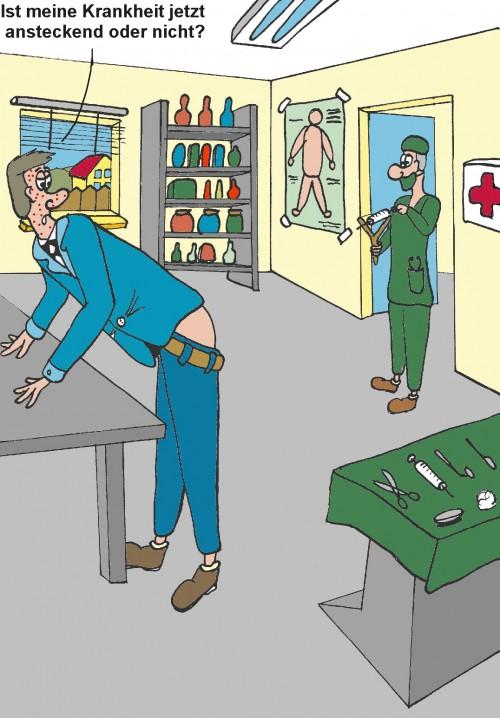 Cartoon: Ansteckende Krankheit