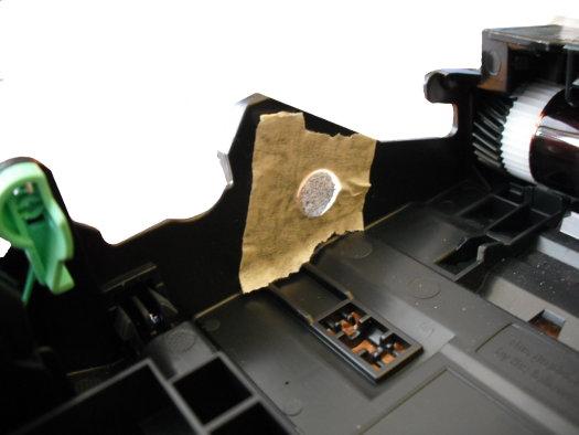 Achtung Hindernisse! Lichtschranke im Drucker.