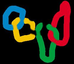 Bunte Olympia-Kringel