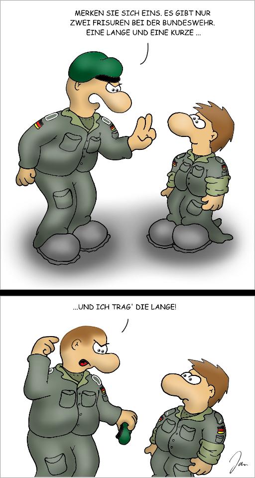 Kurzhaarfrisur bei der Bundeswehr
