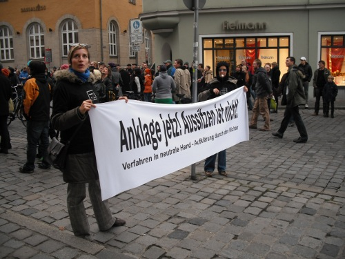 Tennessee Eisenberg, Demo am 14.11.2009