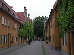 Hauptstraße in der Fuggerei