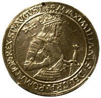 Taler mit dem Porträt des Kaiser Maximilian I. (1486-1519)
