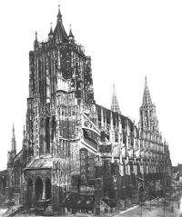 Das Ulmer Münster im Jahre 1887