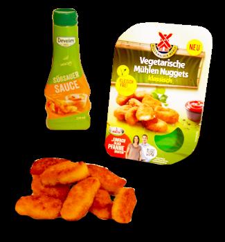 Vegetarische Nuggets mit süß-saurer-Sauce