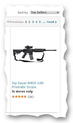 Sturmgewehr aus dem Supermarkt